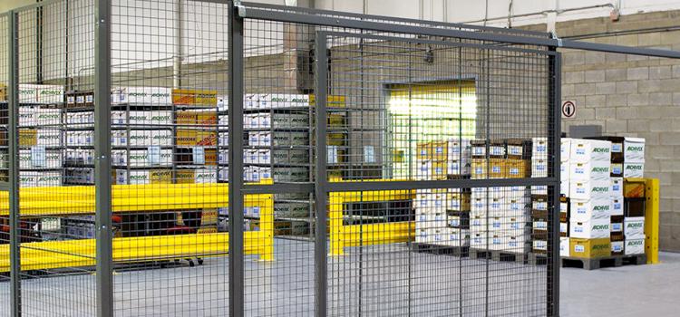Recinzioni perimetrali per  magazzini e scaffalature